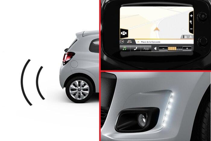 Einparkhilfe hinten + Nebelscheinwerfer + Navibox