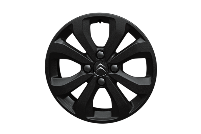 "15"" Black 'Planet' alloy wheels"