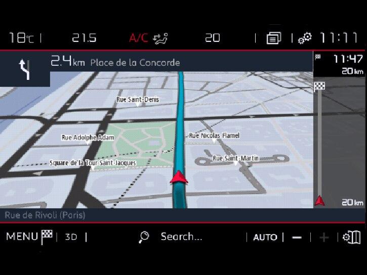 """Sistem de navigatie 3D pe ecran tactil 8"""" + 6 boxe +  Bluetooth + 1* USB + Mirrorscreen + Recunoastere vocala"""