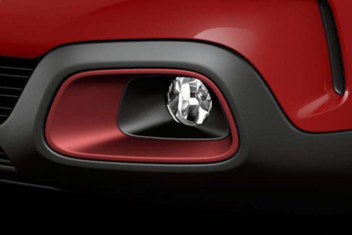 Barvni paket ANODISHED DEEP RED (dodatki v rdeči barvi) - Dodatek na Airbump®  - Obroba prednjih meglenk (Ni možno z E3M0, TXM0, 1NP0)