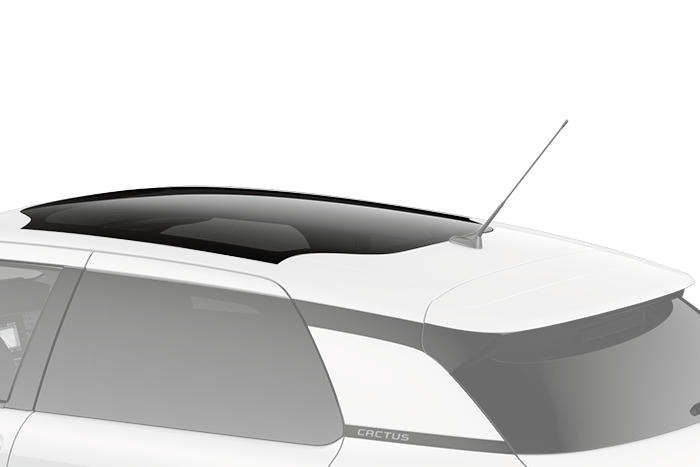 Thermally insulated panoramic sunroof
