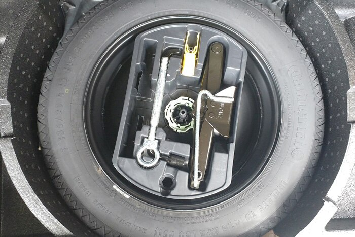 Space saver steel spare wheel