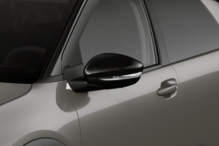 Gloss black A & B pillars, rear spoiler support and door mirrors