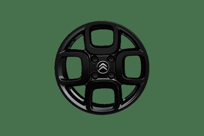 16 inch black 'Square' alloy wheels