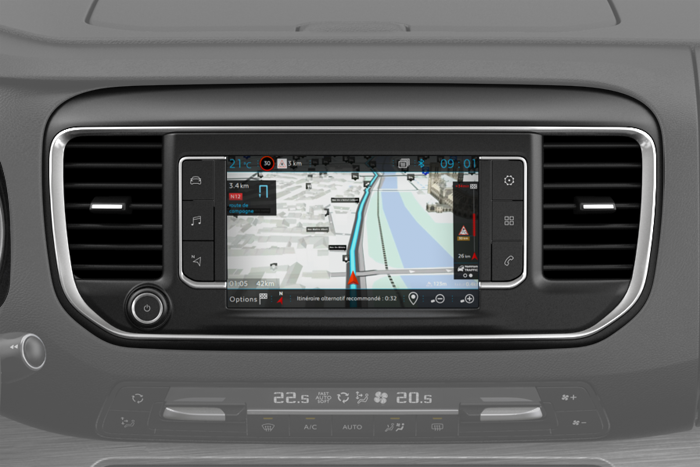 CITROËN Connect Nav op 7'' touchscreen