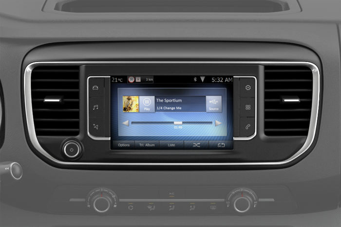 CITROËN Connect Radio su Touch Pad 7'' con DAB+