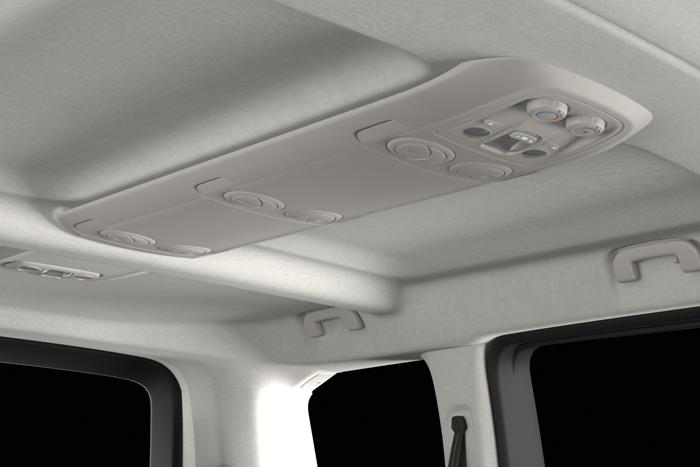 Klima uređaj i dodatni klima uređaj straga (podešavanje ventiliranja na stropu, podešavanje temperature ventiliranja i jačine ventilatora)