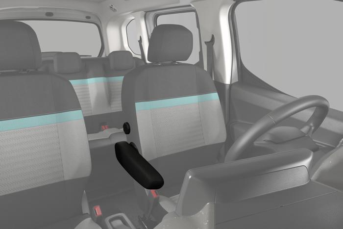 """Sedile conducente """"Comfort"""" : regolabile in altezza, regolazione lombare manuale e vano portaoggetti sotto il sedile"""