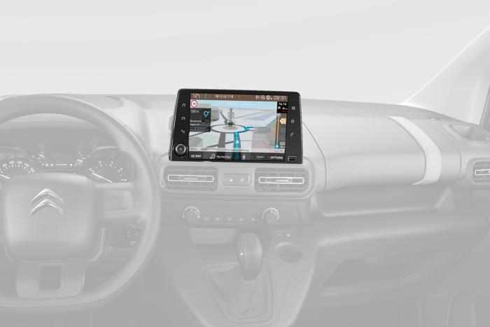 """Citroen Connect NAV con TouchScreen capacitivo da 8"""" e MirrorScreen"""