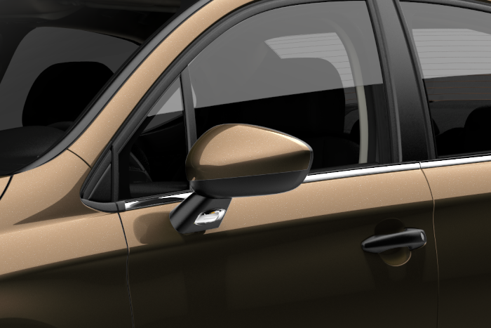 Внешние зеркала, окрашенные в цвет кузова