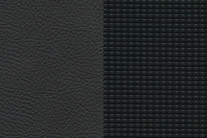 Комбинированная отделка STRADA: сочетание тканей+кожа (темная)