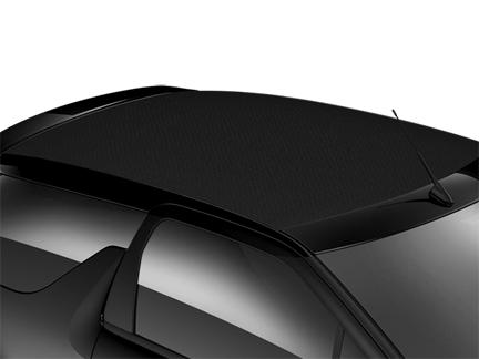 Black fabric electric-folding roof