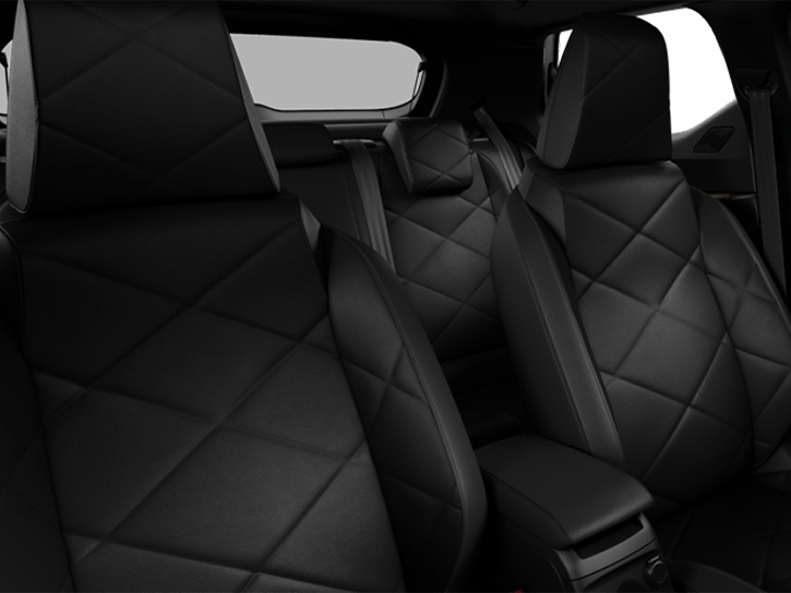 Black Basalt grained leather seats and Bronze decor with Black interior roof