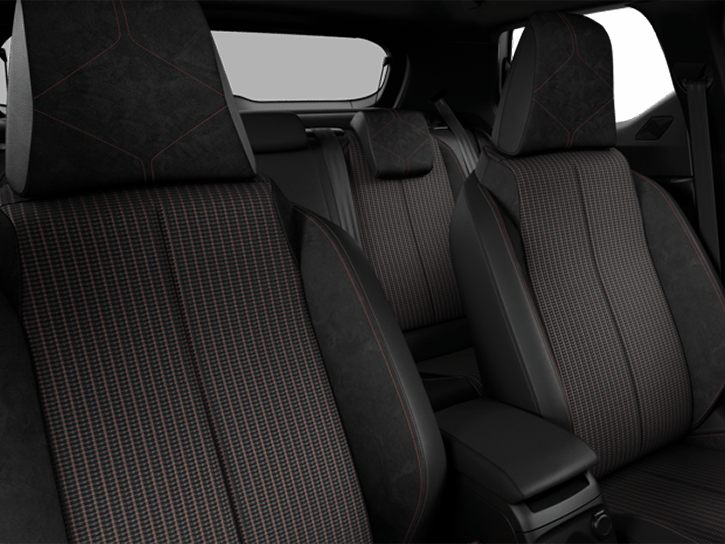 Black Basalt Woven cloth with Alcantara® and PERFORMANCE Line Alcantara® decor with Black interior roof