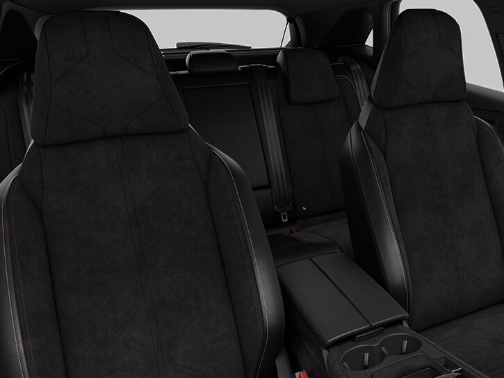 Black Basalt Alcantara® and leatherette